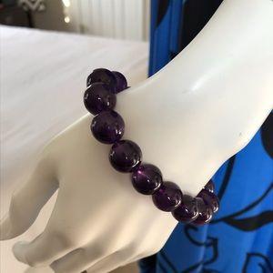 Jewelry - Genuine Amethyst Stretch Bracelet